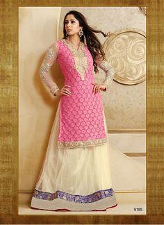 004c75ac76 Buy Sangita Ghosh In Pink Jacket Style Anarkali Suit Online