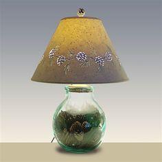 Pine Cone Glass Lamp