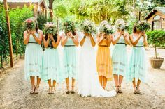 20 Mismatched Bridesmaid Dresses for Wedding 2015 | http://www.tulleandchantilly.com/blog/20-mismatched-bridesmaid-dresses-for-wedding-2015/