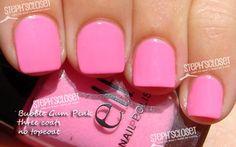 My toes look so cute with pink nail polish and a tan
