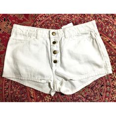 NWT American Apparel White Jean Shorts Size 30 This beautiful white Jean shorts from American Apparel would look great in anyone's closet. You can wear them with anything and they would be great for the summer! OFFERS WELCOMED! American Apparel Shorts Jean Shorts