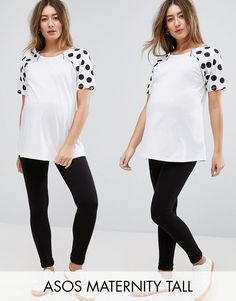 Get this Asos Maternity's basic leggings now! Click for more details. Worldwide shipping. ASOS Maternity TALL Full Length Legging 2 Pack - Black: Maternity leggings pack by ASOS Maternity TALL, Pack of two, Soft-touch stretch jersey, Stretch waistband, Over-the-bump design for comfort and support, Close cut bodycon fit, Designed to fit through all stages of pregnancy, Machine wash, 97% Viscose, 3% Elastane, Our model wears a UK 8/EU 36/US 4 and is 169cm/5'6.5� tall. Stay chic throughout…