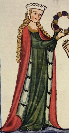 Codex Manesse Ulrich von Singenberg detail - 1300–1400 in European fashion - Wikipedia, the free encyclopedia