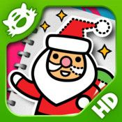 Learn to draw Santa and Snowmen.