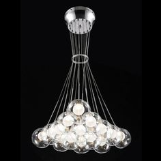 Tomia L 2540/15/390 CH Carmen Multi Light Pendant This Multi Light Pendant from Tomia has a chrome finish. For use with 15 10-watt halogen bulbs.  					…