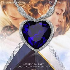 New high quality Titanic Ocean Heart Pendant Necklace For Women Crystal Rhinestone Jewelry Gift Sale United States Russia