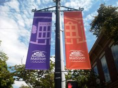 Main Street banners in Madison, IN