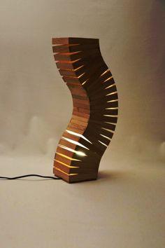 Oak Wood Spine Lamp Floor Lamps Wood Lamps