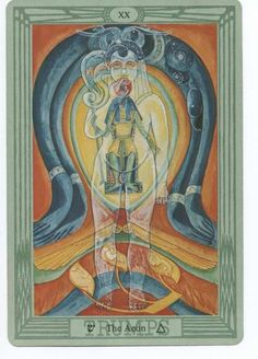 XX. Judgment - Tarot Thot Crowley by Aleister Crowley and Frieda Harris