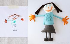 Great tutorial on turning a child's drawing into a stuffed toy.