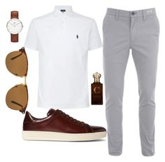 """Untitled #7"" by selma-dautovic ❤ liked on Polyvore featuring Polo Ralph Lauren, Daniel Wellington, Tom Ford, Clive Christian, Persol, men's fashion, menswear and summermenswearessentials"