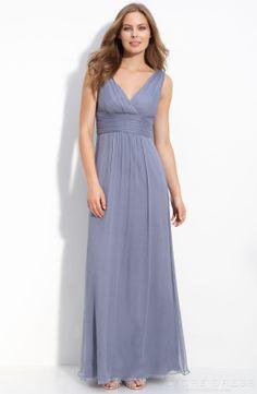 Elegant Sheath / Column V-neck Knee-length Bridesmaid Dress at Storedress.com