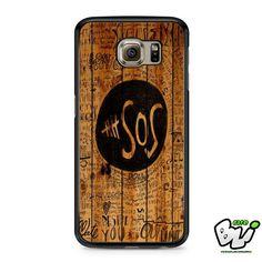 5sos Fans On Wood Samsung Galaxy S7 Edge Case