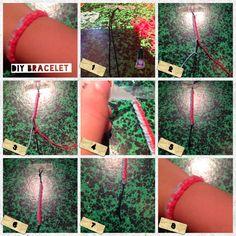 DIY World: Bijoux diy bracelet bicolor a nœud simple