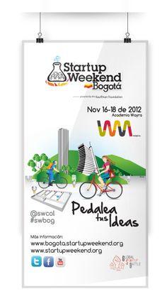 Startup Weekend -Bogotá  Noviembre 23 del 2012 by Elbis Estid Bonilla Bonilla, via Behance