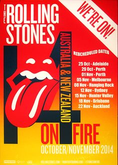 The Rolling Stones - 14 On Fire Tour - Australia/New Zealand