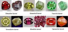 Garnet colors and care