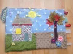 Fidget-twiddle-blanket-quilt-COUNTRY-COTTAGE-theme-dementia-Alzheimer-039-s-sensor