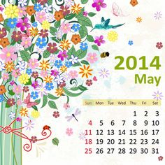 5 May 2014 780x780 2014 Calendar. all Months [12 JPEGs]