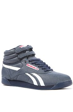ff194314d89827 The FS Hi TXT Sneaker in Athletic Navy and White by Reebok