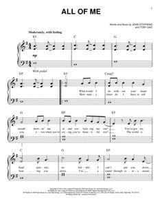 All Of Me By John Legend John Legend Digital Sheet Music For