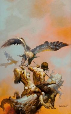 "Boris Vallejo & Julie Bell - Boris Vallejo : ""Lavalite World"" Dark Fantasy Art, Fantasy Artwork, Fantasy Kunst, Boris Vallejo, Julie Bell, Frank Frazetta, Comic Kunst, Comic Art, Illustrations"