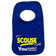123t USA Baby It's A Scouse Thing You Wouldn't Understand Funny Baby Bib