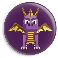 Chapas de uno de los classicos personajes de videojuegos de la infancia, Spyro