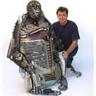 """Doesn't this remind you of the ""artist"" Dean McCoppin in the movie Iron Giant?"" --- Australian artist James Corbett, creates these sculptures using old car parts salvaged from scrap yards. Found Object Art, Found Art, Animal Sculptures, Sculpture Art, Metal Sculptures, Steel Sculpture, Sculpture Ideas, Abstract Sculpture, Bronze Sculpture"