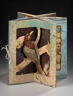 Aviary by Tallmadge Doyle and Susan Lowdermilk Up Book, Book Art, Tunnel Book, Paper Art, Paper Crafts, Bird House Kits, Handmade Books, Kit Homes, Book Making