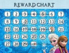 Personalized Disney Frozen Reward Chart Digital by busybeecreates, $2.50