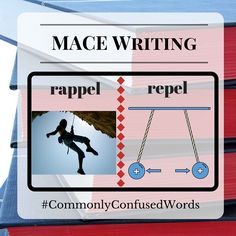 "Difficult word pair: ""rappel"" and ""repel."" Have another grammar question? Reach out to MACE Writing: http://macewriting.com/contact-us"