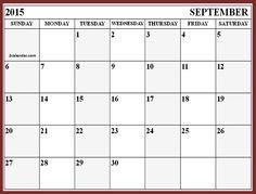 september 2015 calendar print out - Google Search