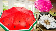 Painted Umbrellas - This is the perfect weekend project to do with your kids. Just grab some paint and an old umbrella and you're good to go! DIY by on Home and Family. Home And Family Crafts, Home And Family Tv, Home And Family Hallmark, Hallmark Homes, Easy Diy Crafts, Diy Craft Projects, Fun Crafts, Craft Ideas, Diy Ideas