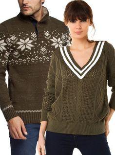 Çift Giyim Kazak Kombini