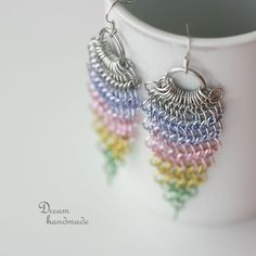 Pastel Rainbow #chainmaille #jewelry-making