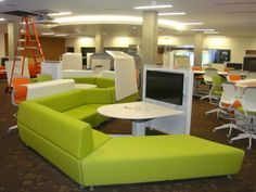 UCLA Library renovation: The Research Commons can also serve as a large presentation space.