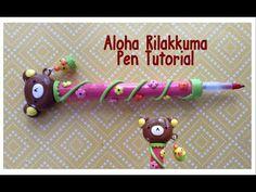 """TUTORIAL: Polymer Clay """"Aloha Rilakkuma"""" Inspired Pen"""