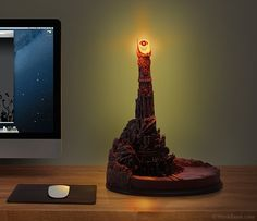 Eye of Sauron Desk Lamp | http://www.thinkgeek.com/product/f486/?i=front