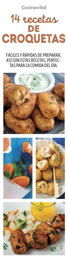14 croquettes recipes for the whole week& meal - - Healthy Eating Recipes, Mexican Food Recipes, Beef Recipes, Vegetarian Recipes, Cooking Recipes, Avacado Dinner, Coliflower Recipes, Portuguese Recipes, Galette