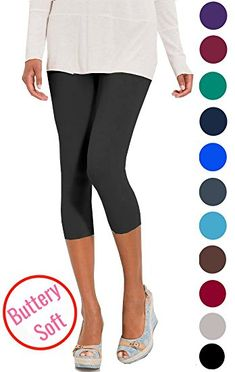 109cbe0a78dd4 LMB Lush Moda Extra Soft Capri Leggings - Variety of Colors - Aqua at Amazon  Women s