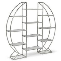 Interior HomeScapes offers the Hoop Etagere in Polished Stainless Steel by Regina Andrew Design. Visit our online store to order your Regina Andrew Design products today. Iron Furniture, Cheap Furniture, Home Furniture, Furniture Design, Wooden Furniture, Furniture Removal, Furniture Stores, Furniture Dolly, Luxury Furniture