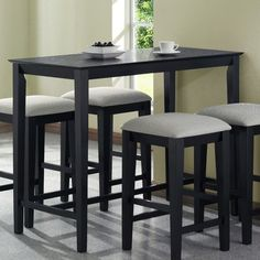 Monarch Specialties Grain Counter Height Kitchen Table - http://www.furniturendecor.com/monarch-specialties-grain-counter-height-kitchen-table-24-inch/ - Categories:Dining Room Furniture, Dining Tables, Furniture, Home and Kitchen