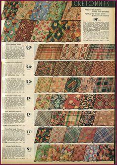 1930s cretonne vintage fabric