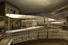 1903 Wright Flyer at the Smithsonian National Air and Space Museum in Washington, DC.