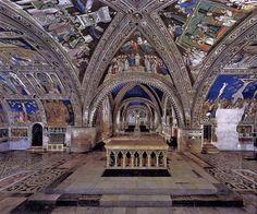 Basilica di San Francesco, Lower Church, Giotto di Bondone (1267-1337), Nativity La Natività