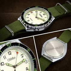 Slava NOS Soviet Divers Style Early Quartz Watch From 70s