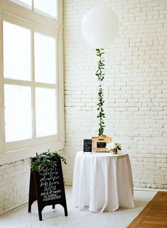 A Baby Shower So Gorgeous You Might Mistake it for a Wedding.-A Baby Shower So Gorgeous You Might Mistake it for a Wedding! Greenery and white neutral baby shower theme decoration ideas. We love this stand alone table for guest sign-in. Baby Shower Elegante, Baby Shower Boho, Elegant Baby Shower, Simple Baby Shower, Baby Boy Shower, Baby Shower Themes Neutral, Bridal Shower Balloons, Baby Shower Centerpieces, Balloon Wedding