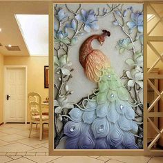 Cross paintings - special drill Cartoon animal round diamond embroidery peacocks cross stitch embroidery full home and hotel decorative hot sale Peacock Wall Art, Peacock Painting, Diy Painting, Painting Canvas, Clay Wall Art, Mural Wall Art, Plaster Art, Mosaic Animals, Cross Crafts