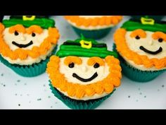▶ Leprechaun Cupcakes for Saint Patrick's Day by Cookies Cupcakes and Cardio - YouTube